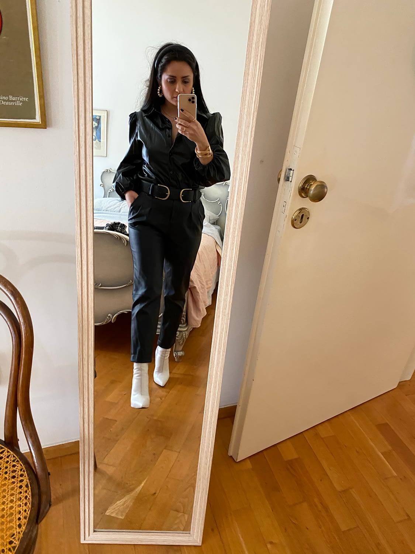 Leather & Plaid