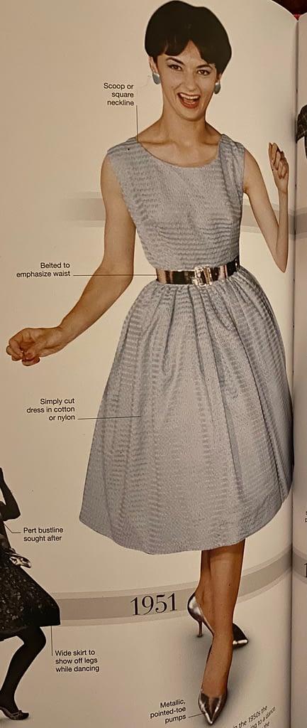 Fashion at '50's decade